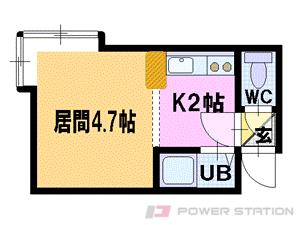 札幌市豊平区平岸2条1丁目0賃貸アパート間取図面