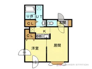 札幌市豊平区平岸2条1丁目0賃貸マンション間取図面