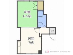 豊平公園1DKマンション図面