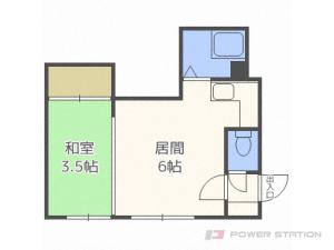 札幌市豊平区平岸2条2丁目0賃貸マンション間取図面