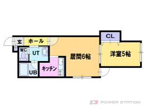 札幌市豊平区豊平6条10丁目0賃貸マンション間取図面