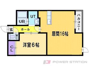 札幌市豊平区豊平7条10丁目0賃貸マンション間取図面