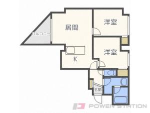 札幌市豊平区豊平8条10丁目0賃貸マンション間取図面