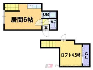 札幌市豊平区平岸4条2丁目1賃貸マンション間取図面