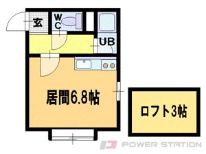 札幌市豊平区美園1条8丁目0賃貸アパート間取図面