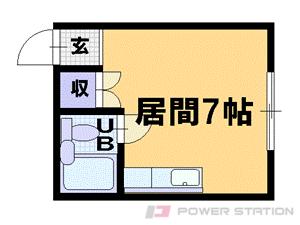 札幌市豊平区中の島2条2丁目1賃貸マンション間取図面
