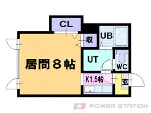 中の島1Rマンション図面