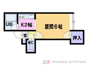 札幌市豊平区平岸2条3丁目0賃貸アパート間取図面