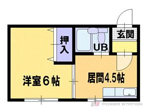 札幌市豊平区平岸2条4丁目1賃貸マンション間取図面