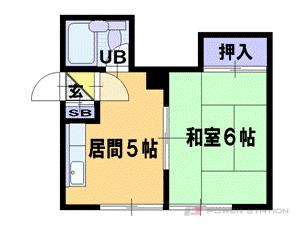 札幌市豊平区平岸3条4丁目1賃貸アパート間取図面