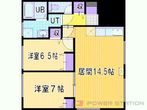 札幌市豊平区平岸4条3丁目0賃貸マンション間取図面