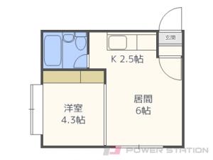 札幌市豊平区平岸4条5丁目0賃貸アパート間取図面