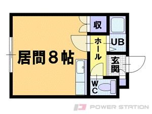 札幌市豊平区平岸4条6丁目0賃貸マンション間取図面
