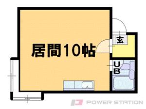 札幌市豊平区平岸5条6丁目1賃貸アパート間取図面