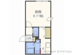 札幌市豊平区平岸2条8丁目0賃貸マンション間取図面