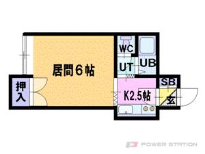 札幌市豊平区美園9条3丁目1賃貸アパート間取図面