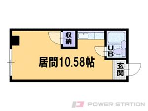 中の島1R分譲リースマンション図面
