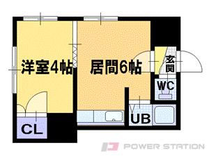 札幌市豊平区平岸3条8丁目0賃貸マンション間取図面