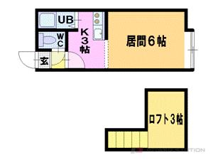 美園1Kマンション図面