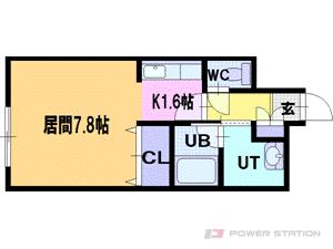 札幌市豊平区福住2条1丁目0賃貸マンション間取図面