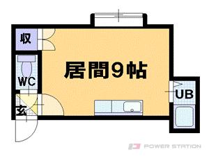 札幌市豊平区中の島1条7丁目0賃貸アパート間取図面