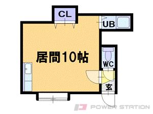 札幌市豊平区中の島1条7丁目0賃貸マンション間取図面