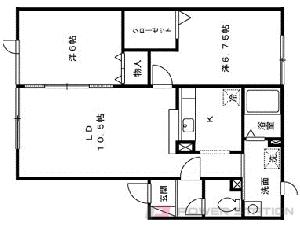 南平岸2LDKアパート図面
