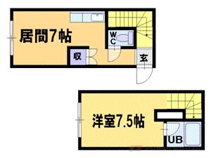 札幌市豊平区平岸4条10丁目0賃貸マンション間取図面
