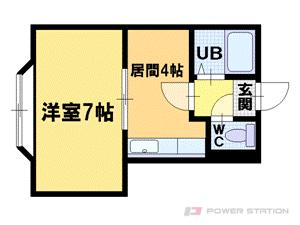 札幌市豊平区平岸6条12丁目1賃貸マンション間取図面