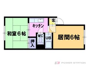 札幌市豊平区平岸7条12丁目0賃貸マンション間取図面