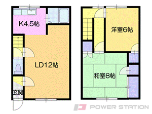 札幌市豊平区月寒東5条17丁目1テラスハウス間取図面