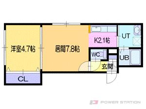 札幌市豊平区平岸4条4丁目0賃貸マンション間取図面