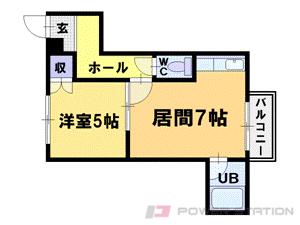 澄川1DKマンション図面