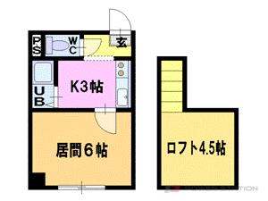 札幌市豊平区平岸1条14丁目0賃貸マンション間取図面