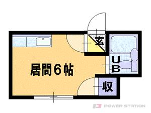 南平岸1Rアパート図面