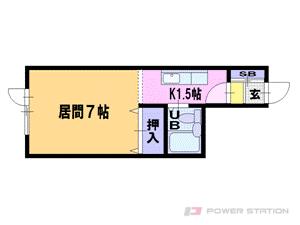 札幌市豊平区平岸3条16丁目1賃貸マンション間取図面