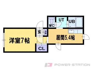 札幌市豊平区平岸4条14丁目0賃貸マンション間取図面