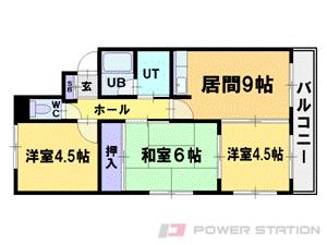 札幌市豊平区平岸6条15丁目1賃貸マンション間取図面