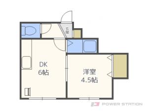 札幌市豊平区平岸6条13丁目0賃貸アパート間取図面
