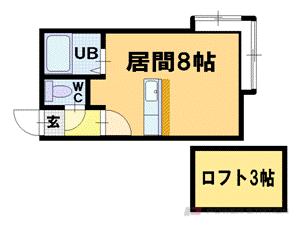 札幌市豊平区平岸6条14丁目1賃貸アパート間取図面