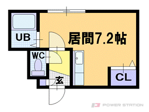南平岸1Rマンション図面