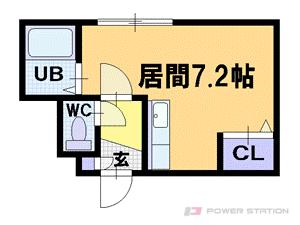 札幌市豊平区平岸8条13丁目0賃貸マンション間取図面