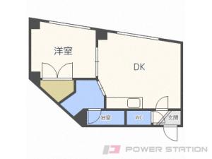 札幌市豊平区月寒東5条18丁目1賃貸マンション間取図面