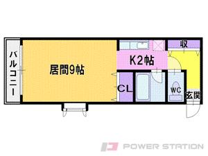 澄川1K分譲リースマンション図面
