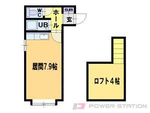 札幌市豊平区平岸3条18丁目0賃貸アパート間取図面
