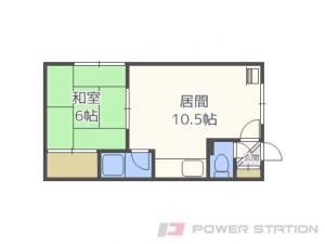 札幌市豊平区月寒東3条17丁目1賃貸アパート間取図面