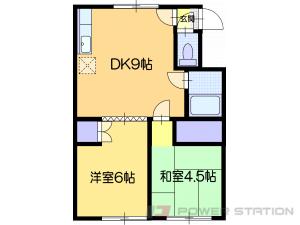 福住2DKアパート図面