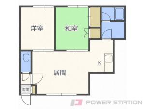 札幌市豊平区月寒東2条20丁目1賃貸アパート間取図面