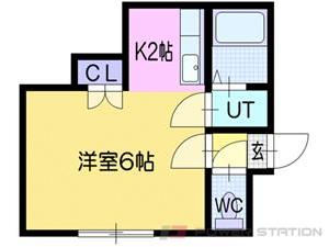 札幌市豊平区西岡2条8丁目0賃貸マンション間取図面
