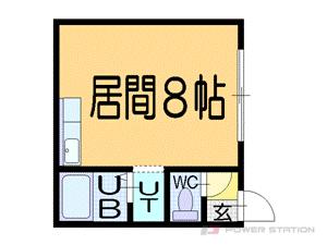 札幌市豊平区豊平4条5丁目1賃貸アパート間取図面